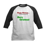 Happy Holidays is what terror Kids Baseball Jersey