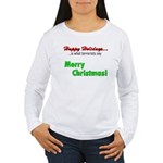 Happy Holidays is what terror Women's Long Sleeve