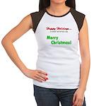 Happy Holidays is what terror Women's Cap Sleeve T