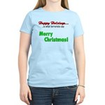 Happy Holidays is what terror Women's Light T-Shir