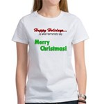 Happy Holidays is what terror Women's T-Shirt