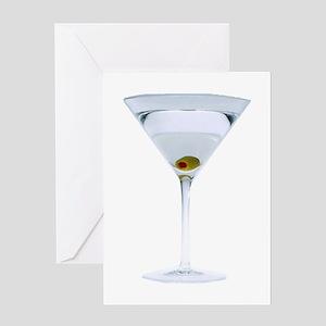 Martini Greeting Card