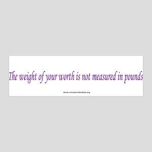 Eating Disorders Awareness 36x11 Wall Peel