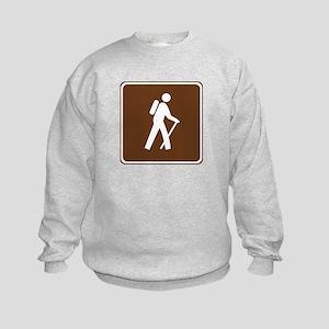 Hiking Trail Sign Kids Sweatshirt