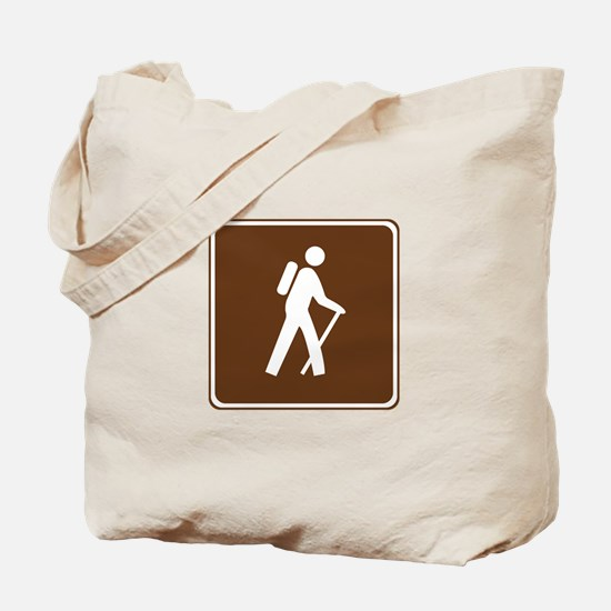Hiking Trail Sign Tote Bag