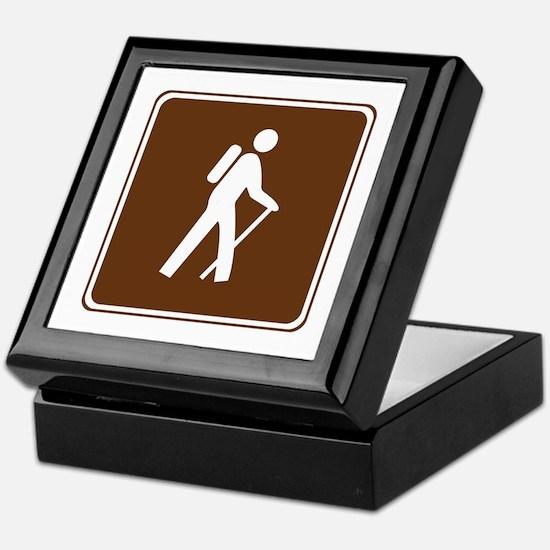 Hiking Trail Sign Keepsake Box