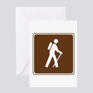 Hiking Trail Sign Greeting Card