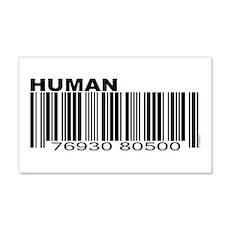 Human Barcode 20x12 Wall Peel