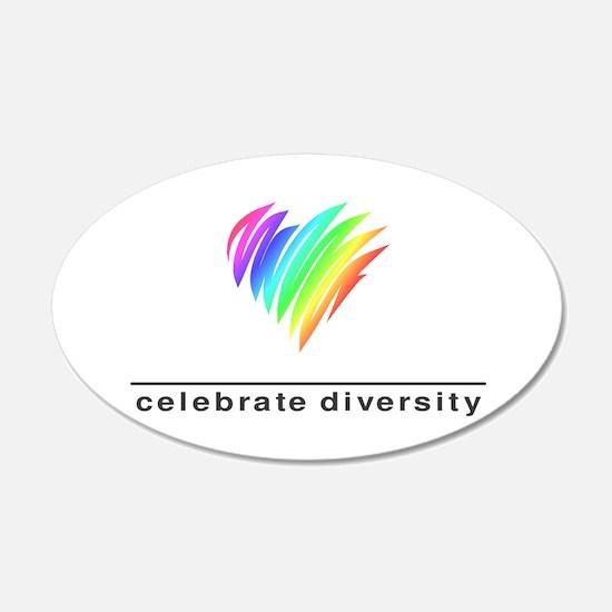 Celebrate Diversity - 20x12 Oval Wall Peel