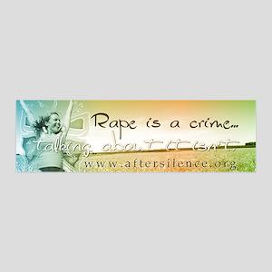 Rape is a Crime 36x11 Wall Peel