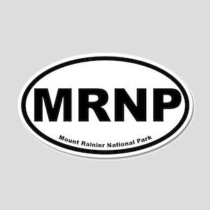 Mount Rainier National Park 20x12 Oval Wall Peel