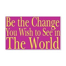 Be the Change (bright) 20x12 Wall Peel