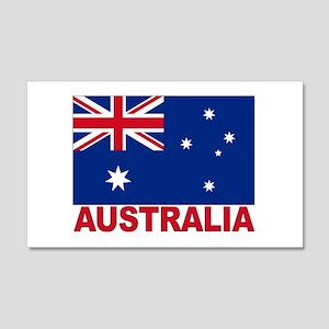 Australia Flag 20x12 Wall Peel