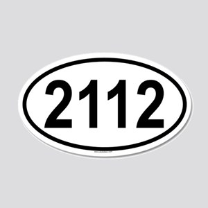 2112 20x12 Oval Wall Peel