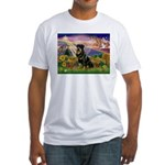 Autumn Angel & Rottie Fitted T-Shirt