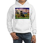 Autumn Angel & Rottie Hooded Sweatshirt
