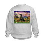 Autumn Angel & Rottie Kids Sweatshirt