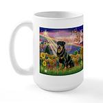 Autumn Angel & Rottie Large Mug