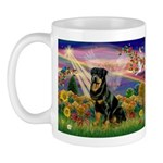 Autumn Angel & Rottie Mug