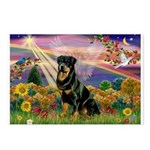 Autumn Angel & Rottie Postcards (Package of 8)
