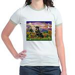 Autumn Angel & Rottie Jr. Ringer T-Shirt