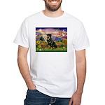 Autumn Angel & Rottie White T-Shirt