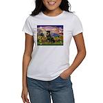 Autumn Angel & Rottie Women's T-Shirt