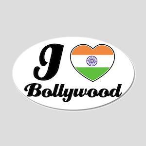 I love Bollywood 20x12 Oval Wall Peel