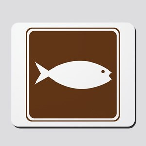 Fish Hatchery Sign Mousepad