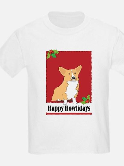 Pembroke Corgi Holiday Design T-Shirt