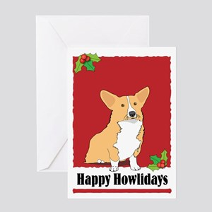 Pembroke Corgi Holiday Design Greeting Card