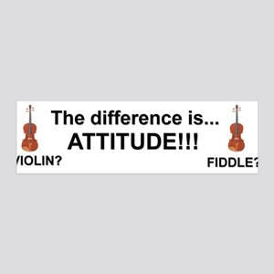 Violin Fiddle Attitude! 36x11 Wall Peel