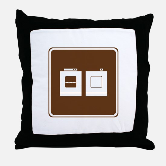 Laundry Sign Throw Pillow