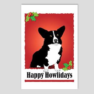 Cardigan Corgi Holiday Design Postcards (Package o