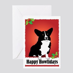 Cardigan Corgi Holiday Design Greeting Card