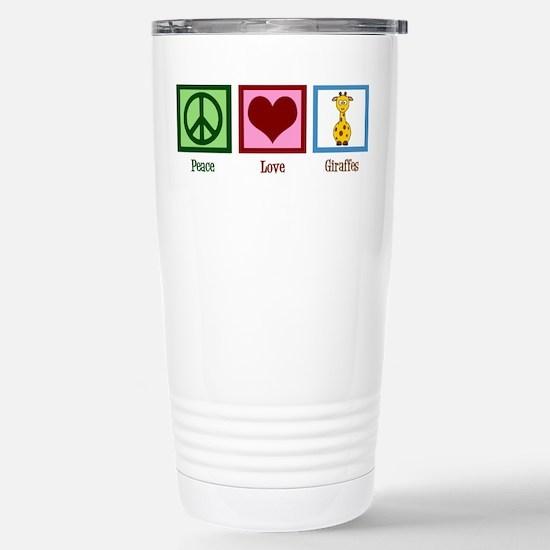Peace Love Giraffes Stainless Steel Travel Mug