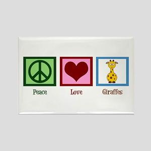 Peace Love Giraffes Rectangle Magnet