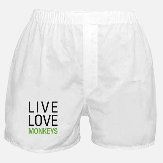 Live Love Monkeys Boxer Shorts