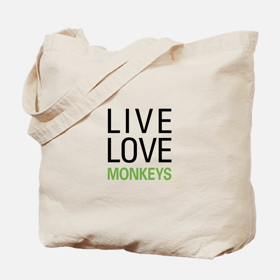 Live Love Monkeys Tote Bag