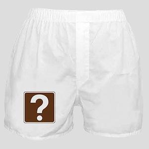 Information Sign Boxer Shorts