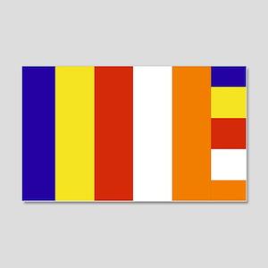 Buddhist Flag 20x12 Wall Peel