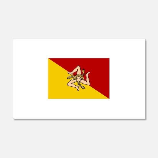 Sicily - Sicilian Flag 20x12 Wall Peel