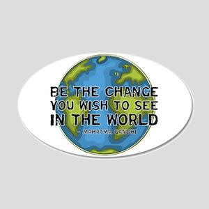 Gandhi - Earth - Change 20x12 Oval Wall Peel