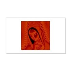 Virgen de Guadalupe - Red 20x12 Wall Peel