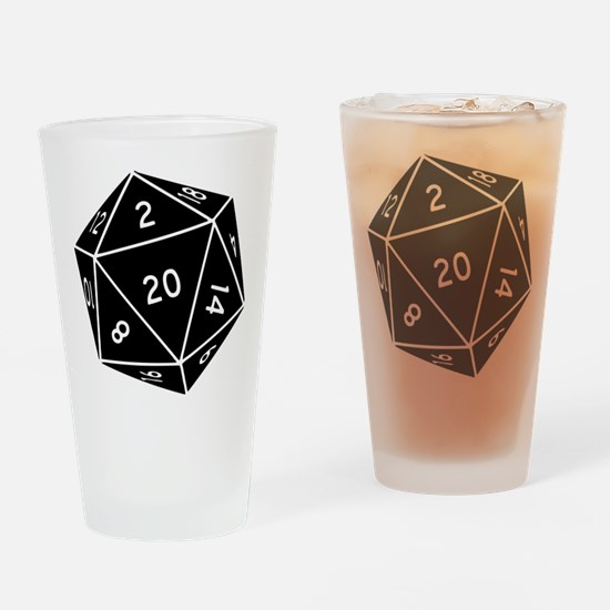 D20 Dice Drinking Glass