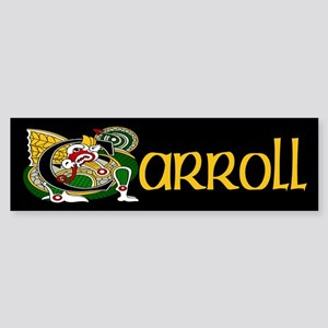 Carroll Celtic Dragon Sticker (Bumper)
