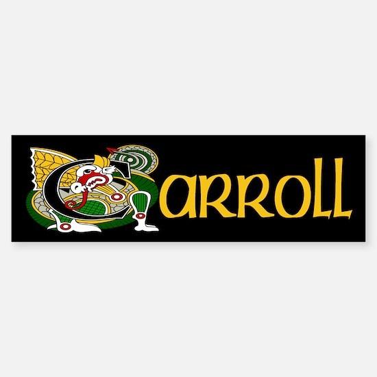 Carroll Celtic Dragon Sticker (Bumper)