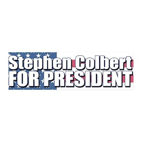 STEPHEN COLBERT FOR PRESIDENT 36x11 Wall Peel