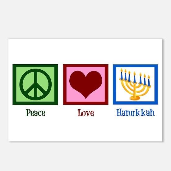 Peace Love Hanukkah Postcards (Package of 8)