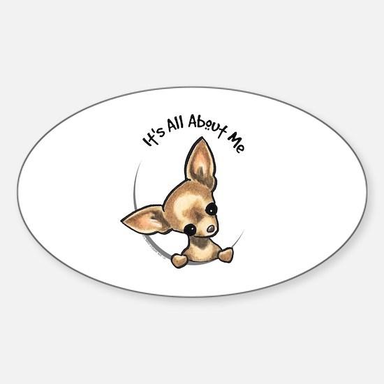 Tan Chihuahua IAAM Sticker (Oval)
